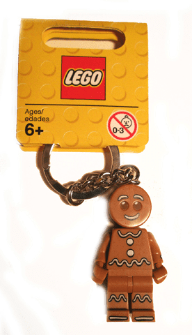 Lego לגו -  851394 - Collectible Minifigures Gingerbread Man Key Chain