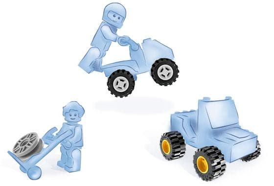 Lego לגו - 6118 - Wheels freeshipping - TheBrick.co.il