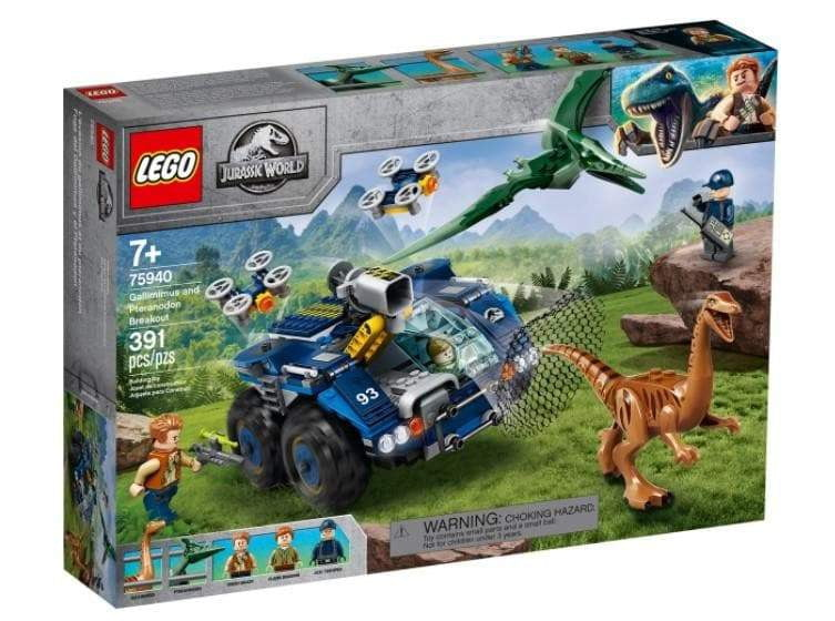 Lego לגו - 75940 - Gallimimus and Pteranodon Breakout