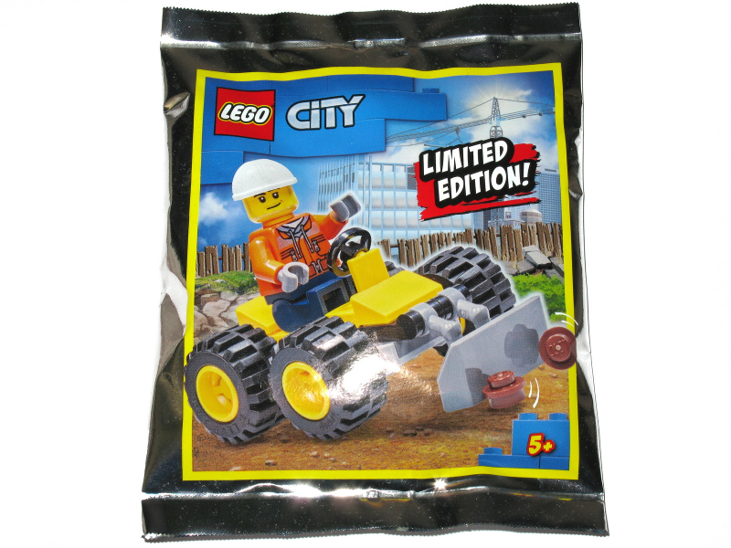 Construction Worker with Bulldozer foil pack - thebrickdev