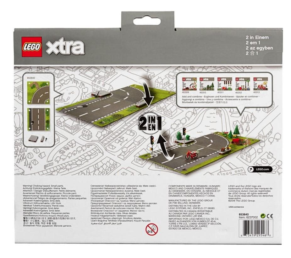 Lego 853840 - Paper, Playmat Road, Double-Sided, Straight/Curved