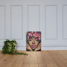 "Load image into Gallery viewer, ""Sza"" Brown Skin Girl Collection Canvas Print"