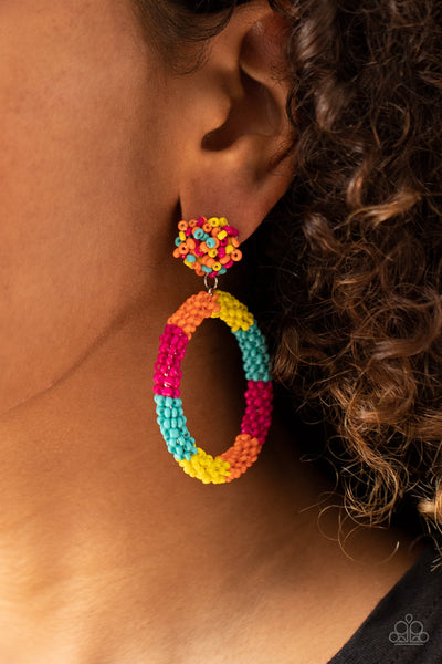 Be All You Can BEAD - Multi - Paparazzi Seed Bead Earrings