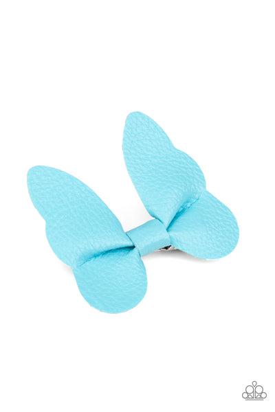 Butterfly Oasis - Blue - Paparazzi Hair Accessory Butterfly