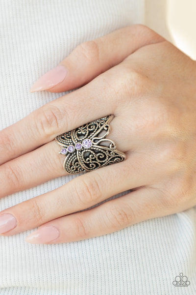Butterfly Bling - Purple - Paparazzi Ring