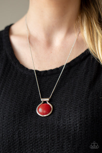 Patagonian Paradise - Red - Paparazzi Necklace