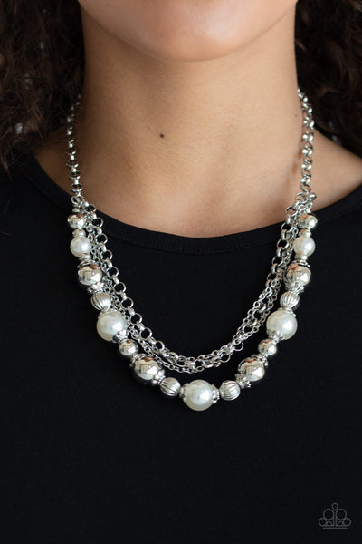5th Avenue Romance - White - Paparazzi Necklace