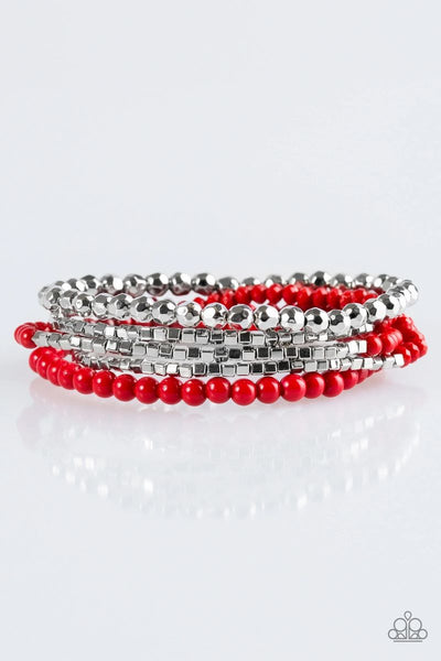 Colorfully Chromatic - Red - Paparazzi Stretchy Bracelet #179