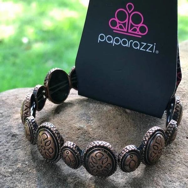 Paparazzi - Cactus Cay - Copper Stretchy Bracelet #172 (D)