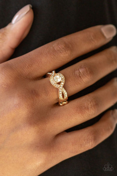 GLAM Of Thrones - Gold - Paparazzi Ring