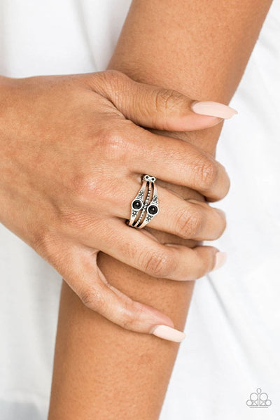Give It Your ZEST - Black - Paparazzi Ring