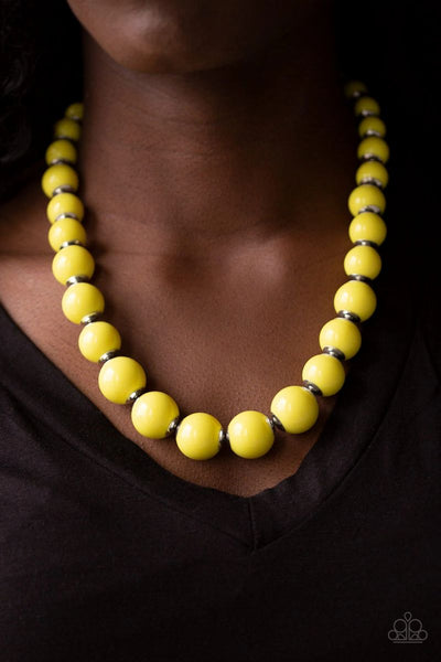Paparazzi - Everyday Eye Candy - Yellow Necklace #1361 (D)