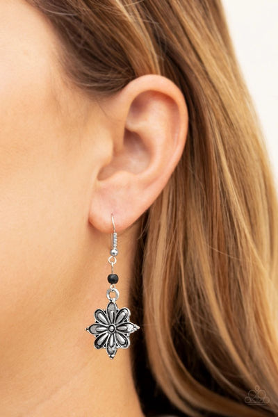 Cactus Blossom - Black - Paparazzi Earrings