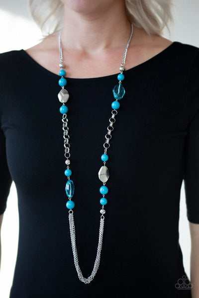Marina Majesty - Blue - Paparazzi Long Necklace