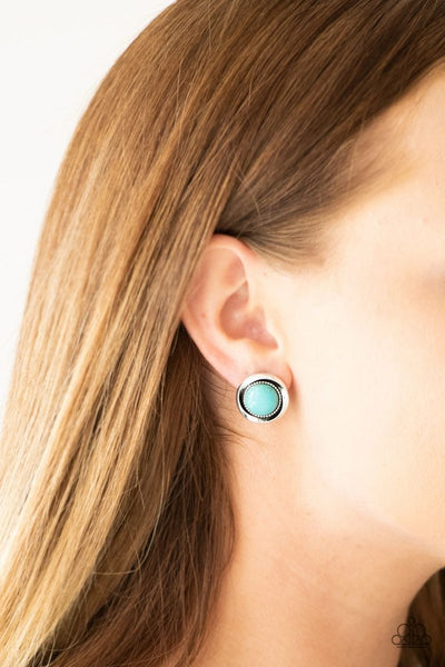 Out Of This Galaxy - Blue - Paparazzi Post Earrings #2674