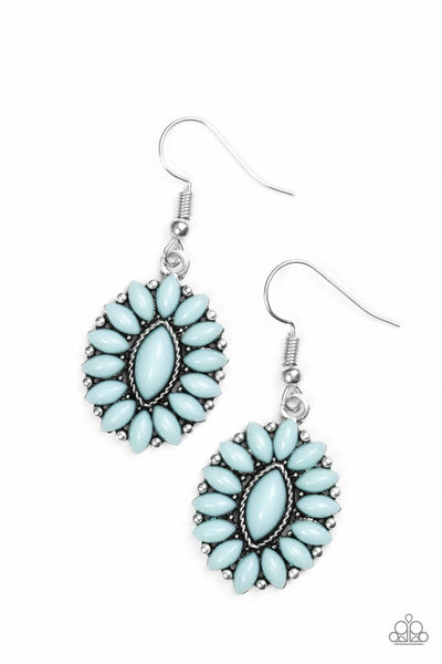 Spring Tea Parties - Blue - Paparazzi Earrings