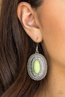 Haute Hacienda - Green - Paparazzi Earrings