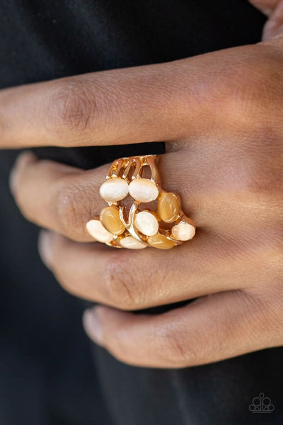 Really Starting To GLOW On Me - Gold - Paparazzi Moonstone Ring