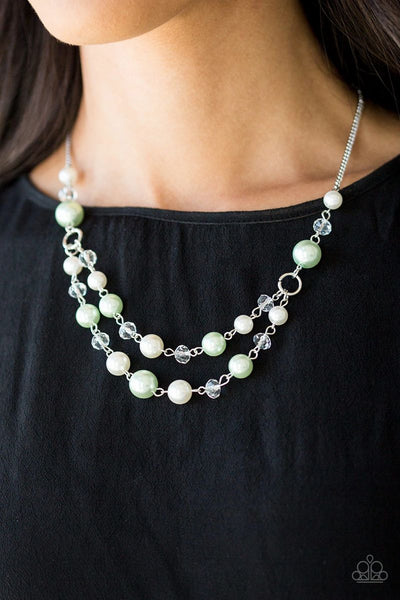 The Princess BRIDESMAID - Green - Paparazzi Necklace #1925 (D)