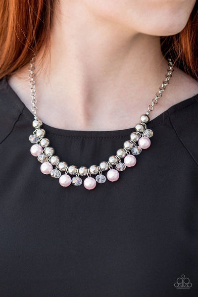 Paparazzi - Power Trip - Pink Necklace #1553 (D)