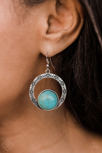Mesa Mood - Blue - Paparazzi Earrings