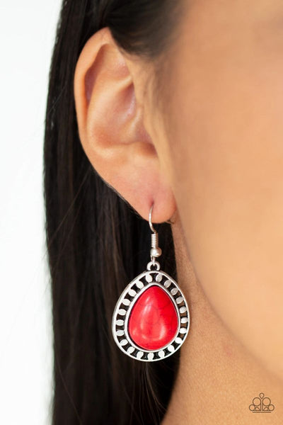 Sahara Serenity - Red - Paparazzi Earrings #2587