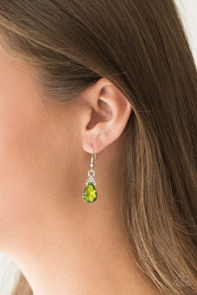 5th Avenue Fireworks - Green - Paparazzi Earrings #2901