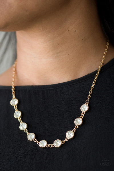 Paparazzi - Starlit Socials - Gold Necklace #2646