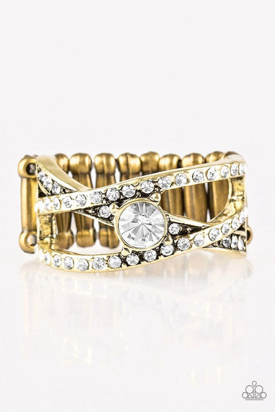 Prepare To Be Dazzled! - Brass - Paparazzi Ring
