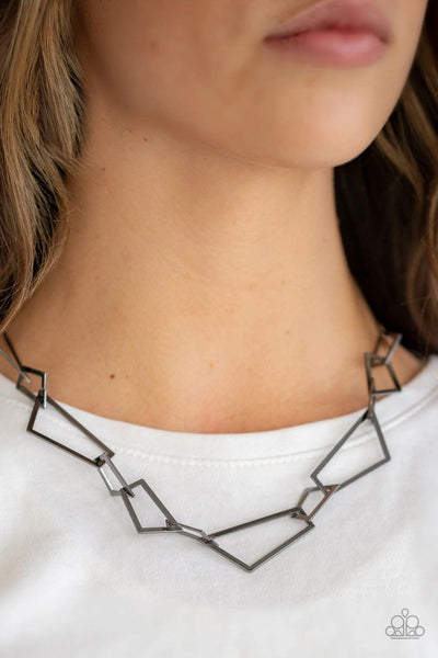 Shattering Records - Black - Paparazzi Necklace #4395