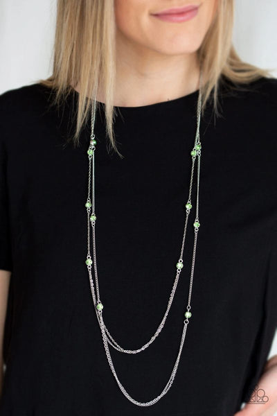 Sparkle Of The Day - Green - Paparazzi Necklace #553