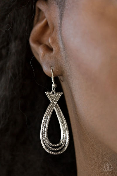 Fair FAME - White - Paparazzi Earrings #1853 D