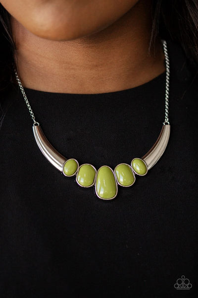 A BULL House - Green - Paparazzi Necklace