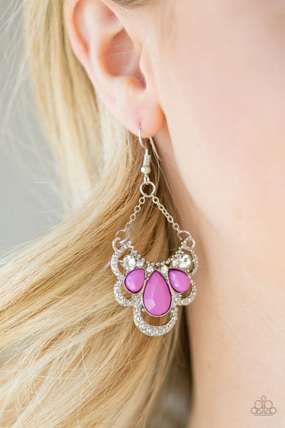 Caribbean Royalty - Purple - Paparazzi Earrings