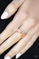 Infinitely Industrial - Rose Gold- Paparazzi Ring