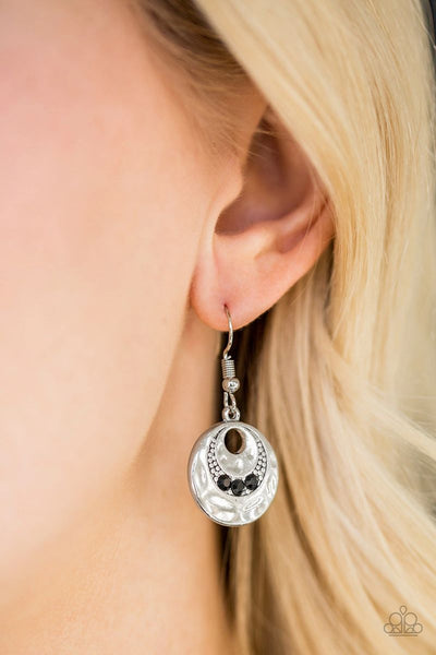 Hard CACHE - Black - Paparazzi Earrings