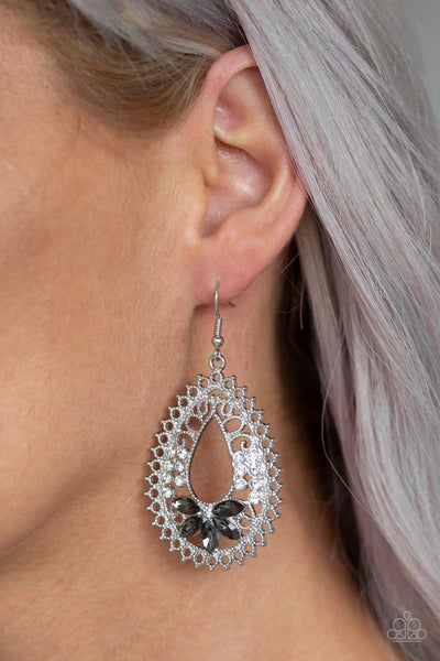 Instant Reflect - Silver - Paparazzi Earrings