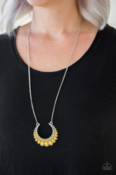 Paparazzi - Count To ZEN - Yellow Necklace #486 (D)
