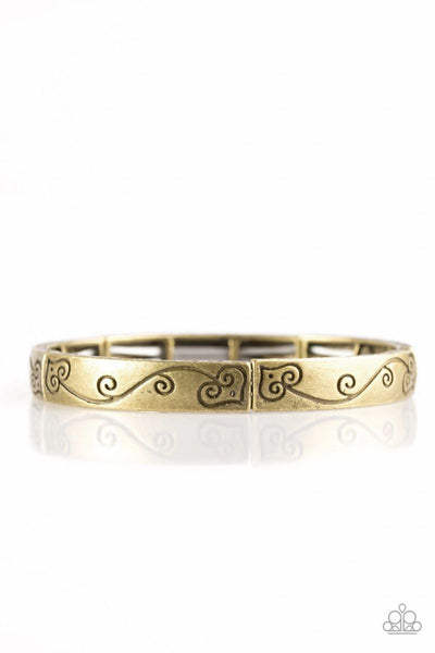 "Paparazzi ""Vine With Me"" - Brass Stretchy Bracelet #1171"