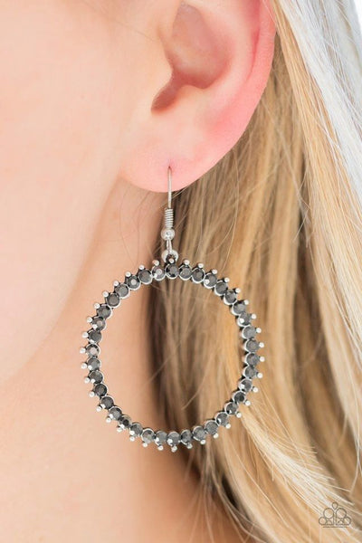 Spark Their Attention - Silver - Paparazzi Earrings