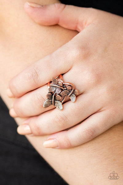 Paparazzi - Full Of Flutter - Copper Butterfly Ring #4097