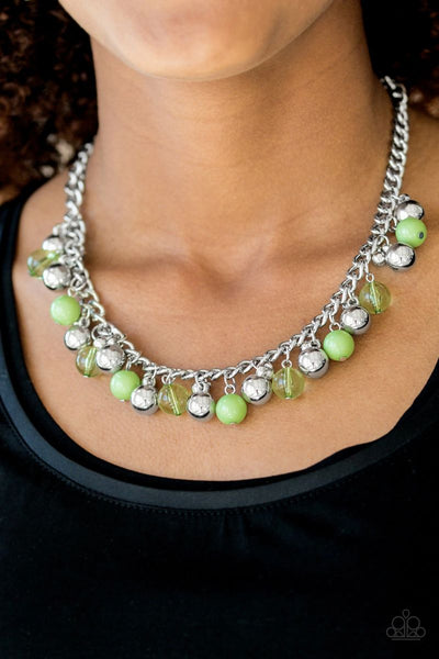 Keep A GLOW Profile - Green - Paparazzi Necklace #1592 (D)