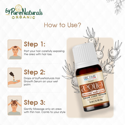 How to use hair growth serum