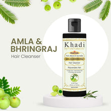Load image into Gallery viewer, Khadi Herbal Natural Bhringraj Amla hair shampoo byPureNaturals