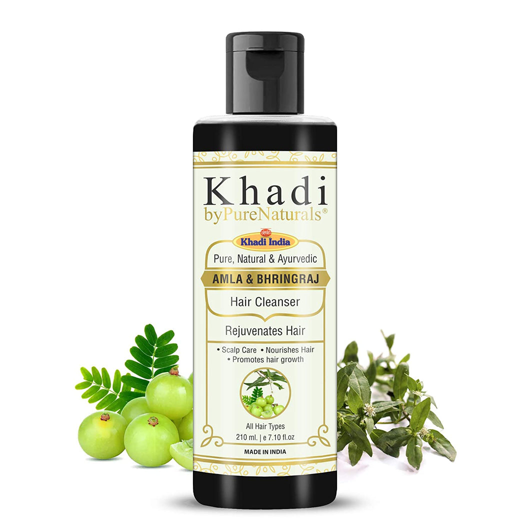 Khadi Herbal Natural Bhringraj Amla hair shampoo byPureNaturals