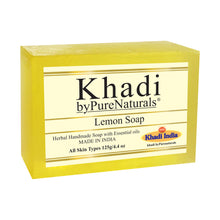 Load image into Gallery viewer, Khadi Lemon Soap byPureNaturals