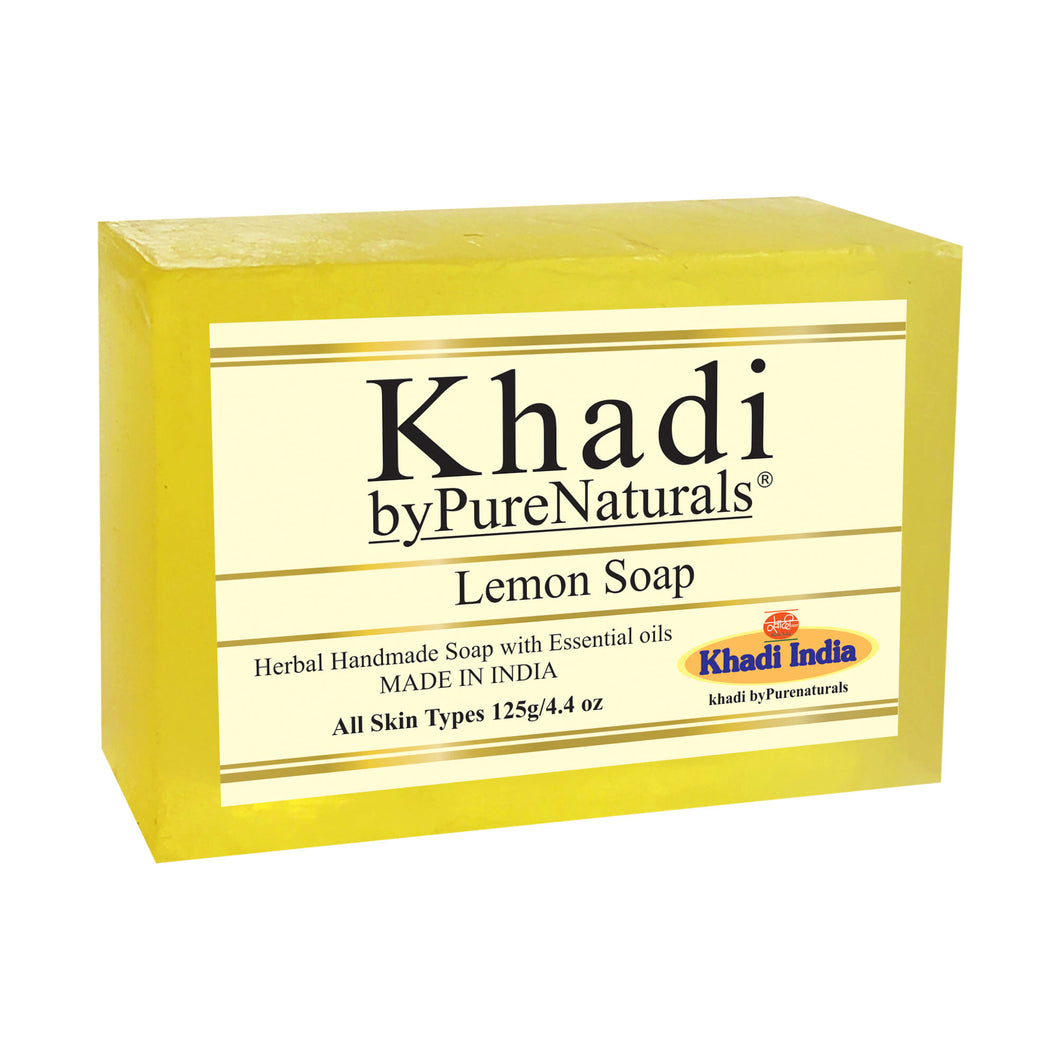 Khadi Lemon Soap byPureNaturals