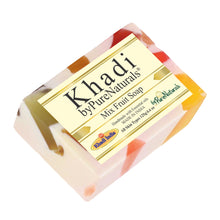 Load image into Gallery viewer, Khadi Mix fruit Soap byPureNaturals