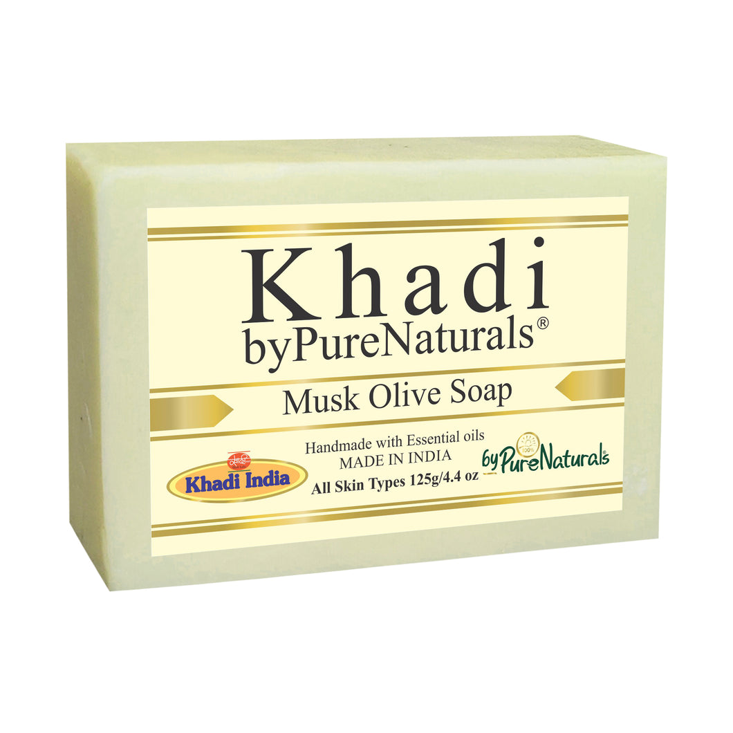 Khadi Musk Olive Soap byPureNaturals