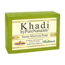 Load image into Gallery viewer, Khadi Neem Aloevera Soap byPureNaturals